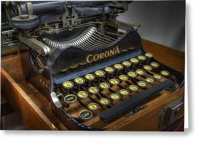 Typewriter Keys Photographs Greeting Cards - Book Writer Greeting Card by Daniel Hagerman