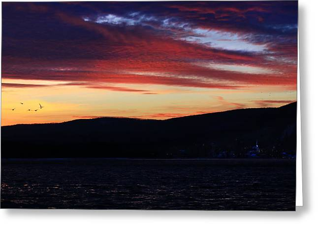 Keuka Greeting Cards - Bookend Greeting Card by Bob Magee