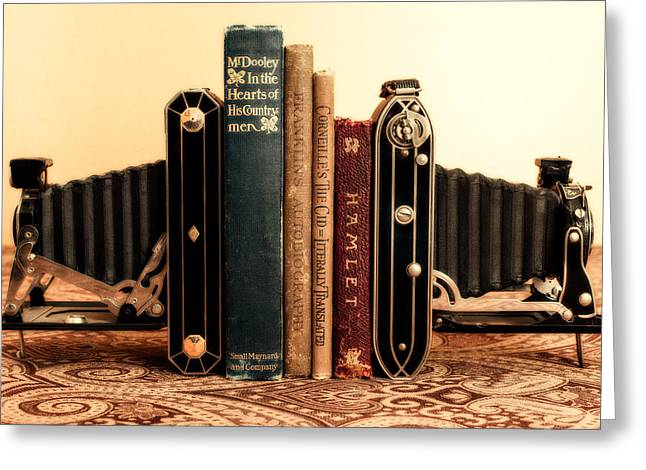 Bookends Greeting Card by Jon Woodhams
