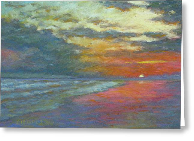 Beach Sunsets Pastels Greeting Cards - Booker Beach Greeting Card by Delton Gerdes