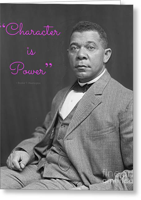 Booker T. Washington Greeting Cards - Booker T. Washington 1895 Greeting Card by Padre Art