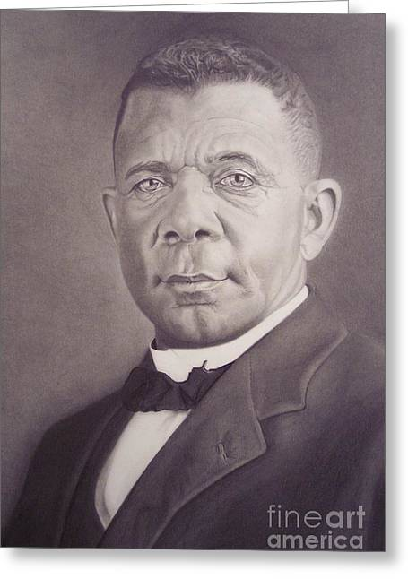 Booker T. Washington Greeting Cards - Booker T Washington Greeting Card by Wil Golden