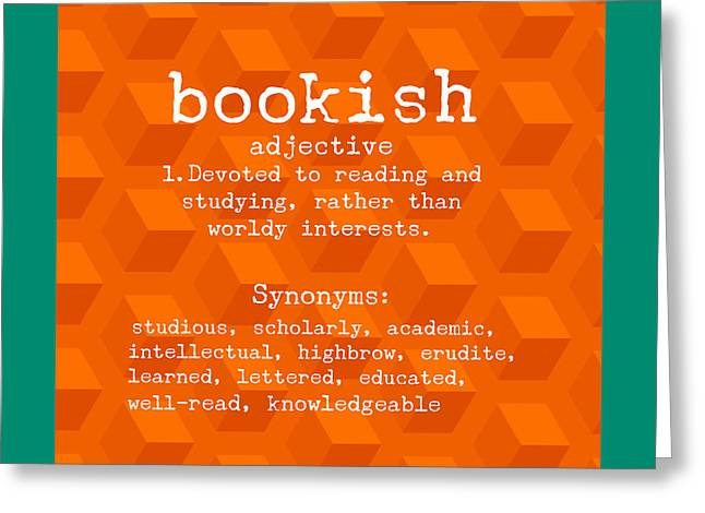 Bookish Greeting Cards - Bookish Greeting Card by Bonnie Bruno