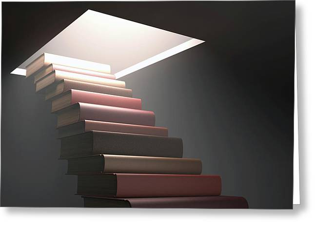 Books Making Steps Greeting Card by Ktsdesign