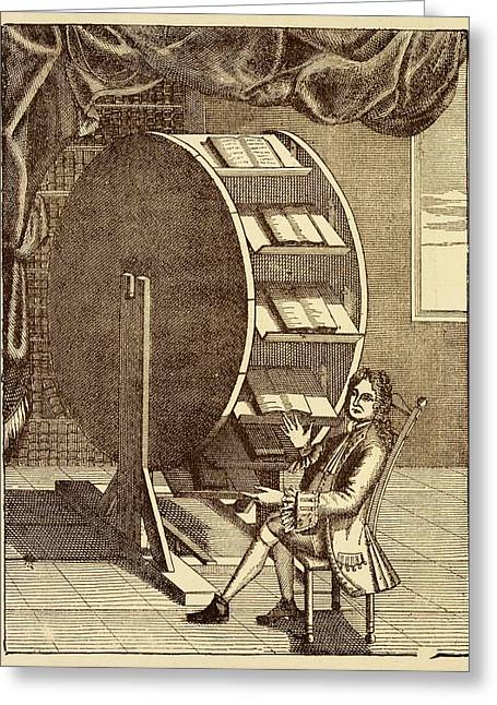 Bookwheel Illustration. Greeting Card by David Parker