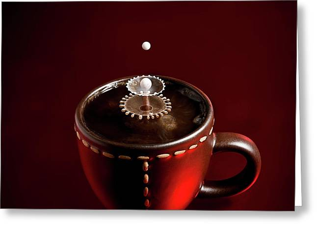 Cup Greeting Cards - Boom Boom Greeting Card by Christophe Kiciak