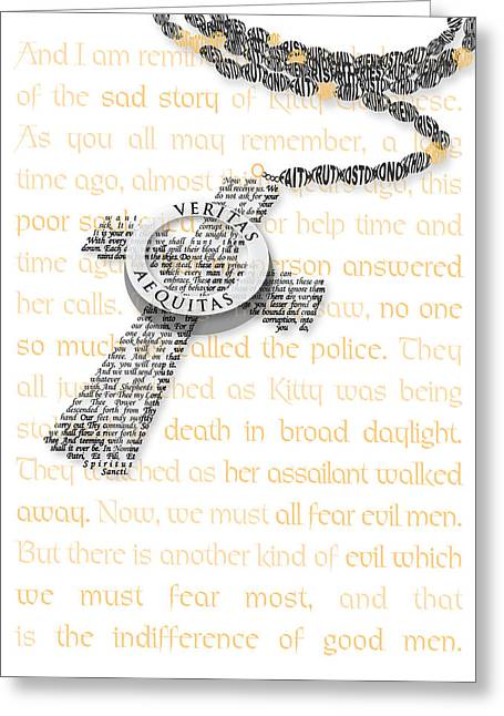 Rosary Digital Art Greeting Cards - Boondocks Greeting Card by Jennifer Westlake