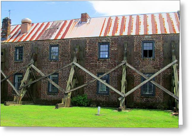 Boone Hall Greeting Cards - Boone Hall Bracing Greeting Card by Randall Weidner