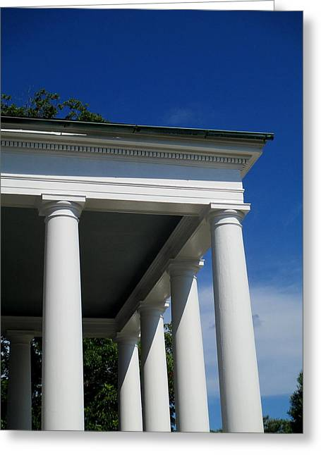 Boone Hall Greeting Cards - Boone Hall Columns Greeting Card by Randall Weidner