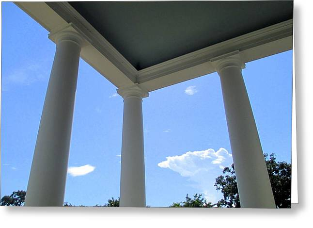 Boone Hall Greeting Cards - Boone Hall Porch Greeting Card by Randall Weidner