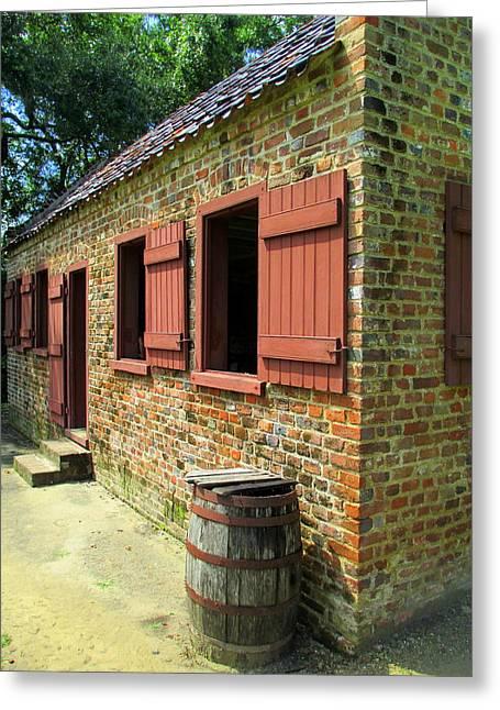 Slave Quarters Greeting Cards - Boone Hall Slave Quarters 2 Greeting Card by Randall Weidner
