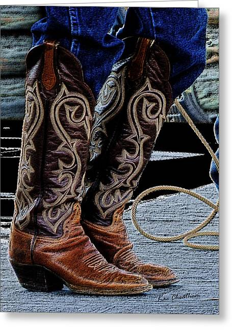 Boots Digital Greeting Cards - Boot 2 Greeting Card by Kae Cheatham