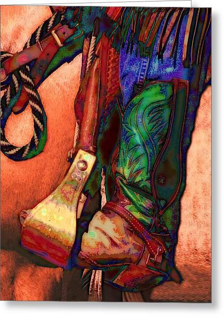 Boots Digital Art Greeting Cards - Boot Greeting Card by Kae Cheatham