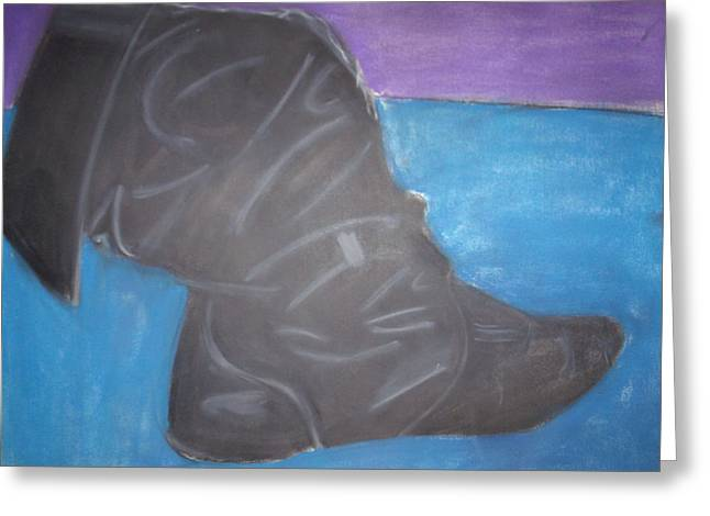 Black Boots Drawings Greeting Cards - Boot Greeting Card by Robyn Paul