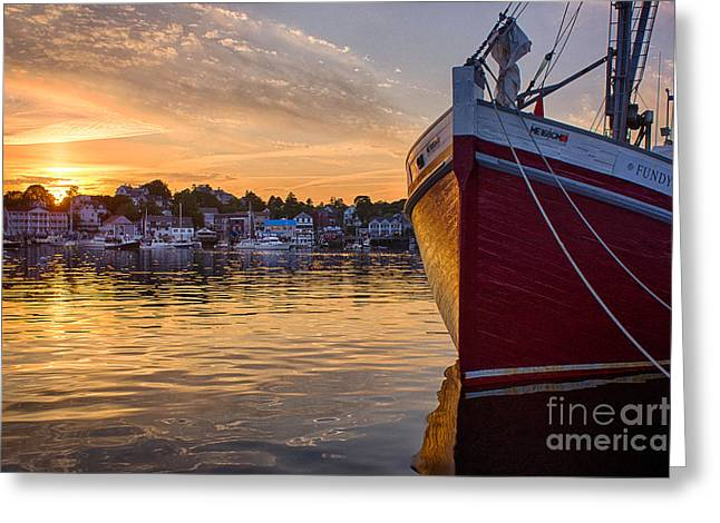 Boothbay Harbor Greeting Cards - Boothbay Harbor Greeting Card by Benjamin Williamson