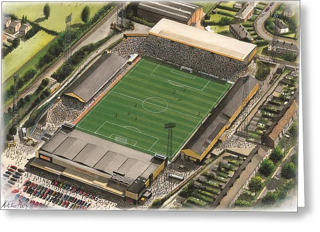 Art Mobile Greeting Cards - Boothferry Park - Hull City Greeting Card by Kevin Fletcher