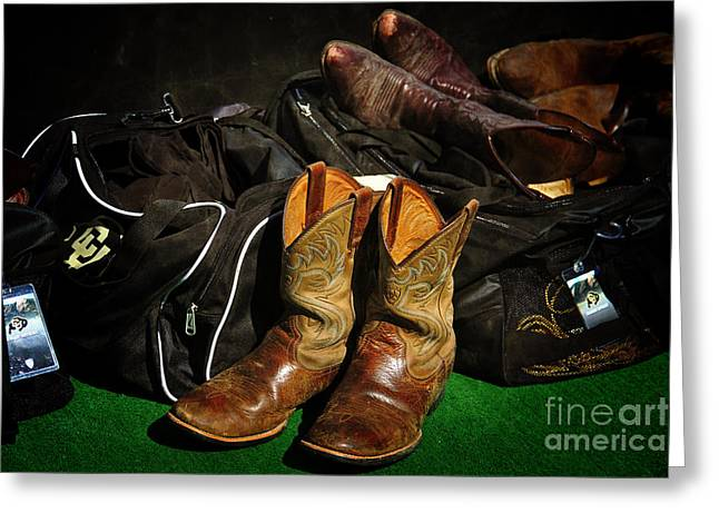 Cu Boulder Greeting Cards - Boots and Bags Greeting Card by Bob Hislop