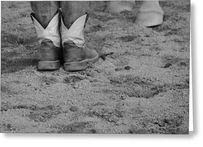 Cowgirl Boots Greeting Cards - Boots And Horse Hooves Greeting Card by Dan Sproul