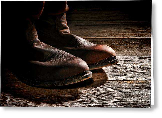 Boot Greeting Cards - Boots  Greeting Card by Olivier Le Queinec