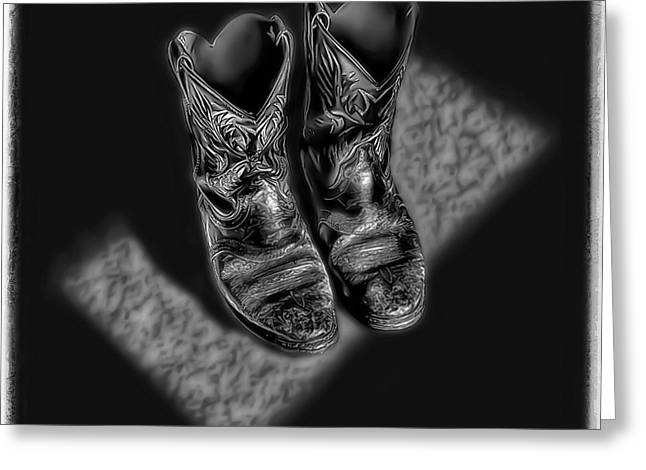 Work Boots Greeting Cards - Boots Greeting Card by Walt Foegelle