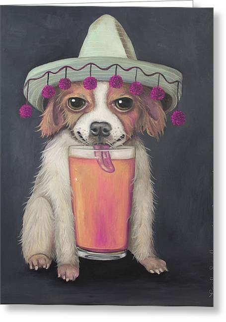 Mexican Fiesta Greeting Cards - Boozer edit 2 Greeting Card by Leah Saulnier The Painting Maniac