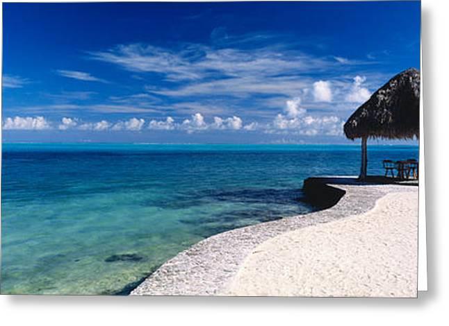 Cabana Greeting Cards - Bora Bora Point Bora Bora Greeting Card by Panoramic Images