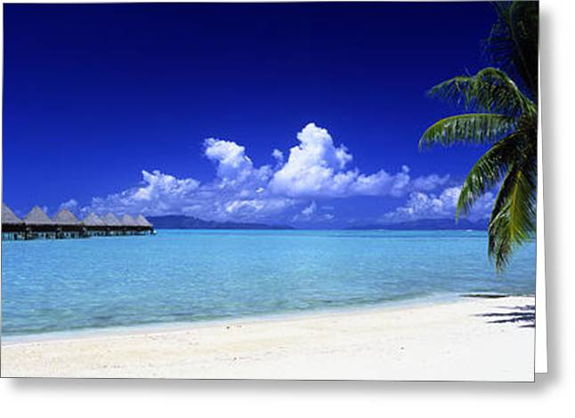 Cabanas Greeting Cards - Bora Bora South Pacific Greeting Card by Panoramic Images