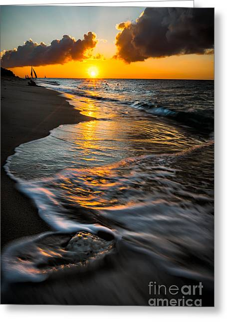 Sun Rays Digital Art Greeting Cards - Boracay Sunset Greeting Card by Adrian Evans