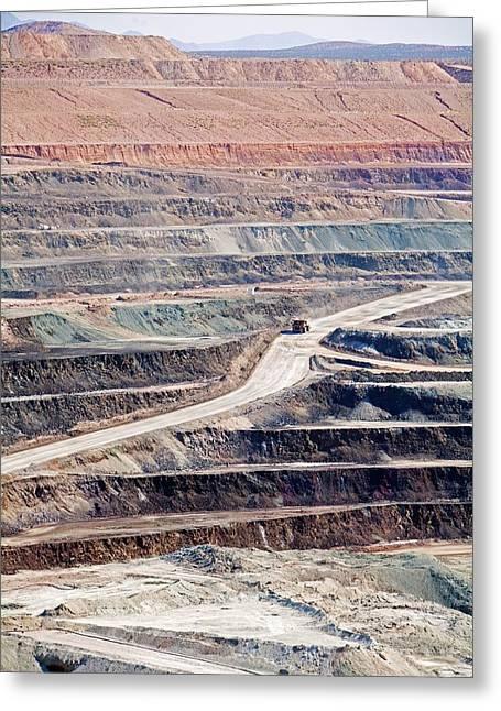 Borax Mine Greeting Card by Jim West