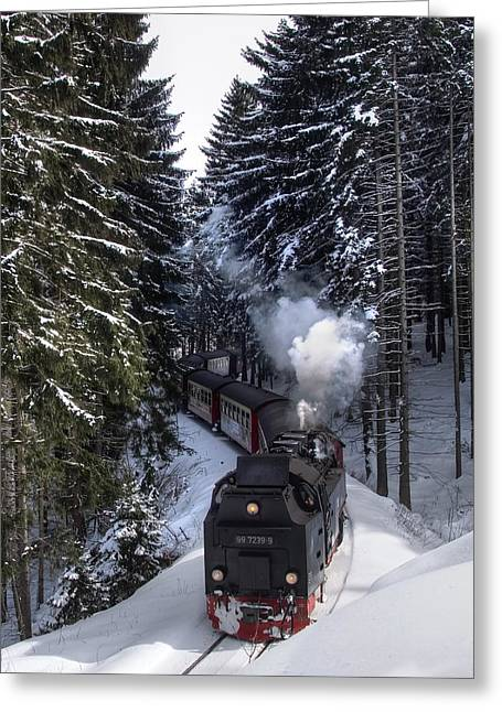 Borckenbahn Greeting Card by Steffen Gierok
