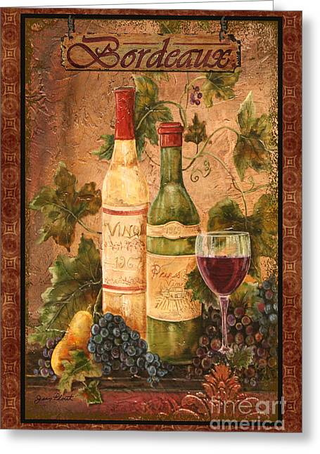Pear Mixed Media Greeting Cards - Bordeaux Greeting Card by Jean Plout