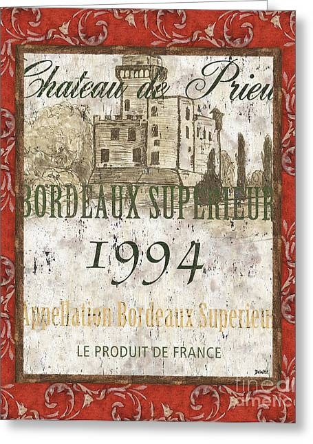 Chateau Greeting Cards - Bordeaux Rouge 2 Greeting Card by Debbie DeWitt