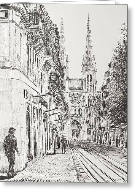 Bordeaux Greeting Cards - Bordeaux Greeting Card by Vincent Alexander Booth