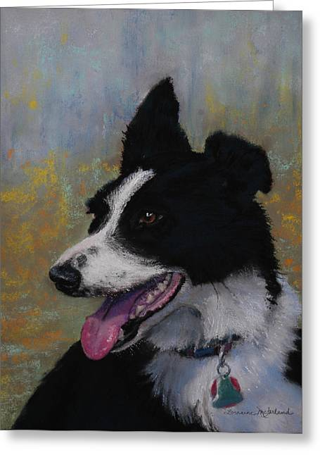 Collie Pastels Greeting Cards - Border Collie Greeting Card by Lorraine McFarland