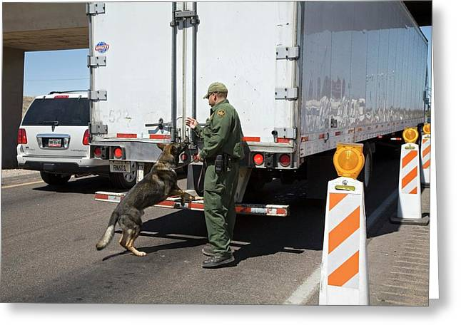 Border Patrol Checkpoint Greeting Card by Jim West