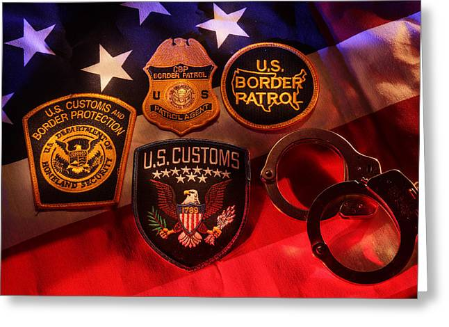 Cbp Greeting Cards - Border Security Greeting Card by Daniel Alcocer