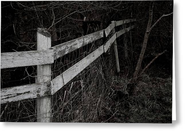 Crooked Fence Greeting Cards - Borderline Greeting Card by Odd Jeppesen