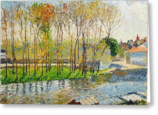 Bravery Greeting Cards - Bords Du Loing A Moret Greeting Card by Camille Pissarro