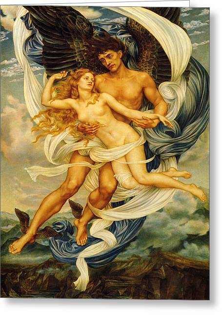 Evelyn De Greeting Cards - Boreas And Orietyia Greeting Card by Evelyn de Morgan