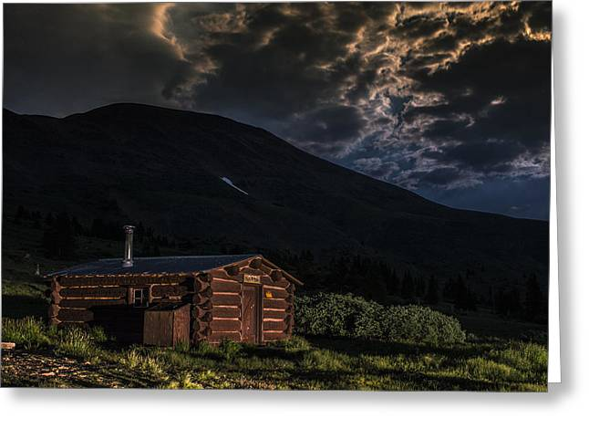 Path Greeting Cards - Boreas Pass Cabin Greeting Card by Michael J Bauer