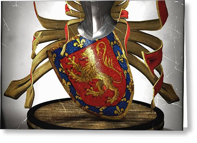 Borges family Coat of Arms Greeting Card by Frederico Borges