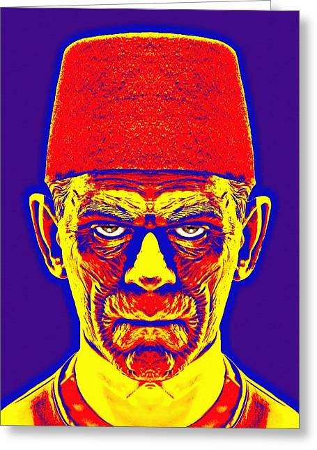 The Mummy Greeting Cards - Boris Karloff alias in The Mummy Greeting Card by Art Cinema Gallery