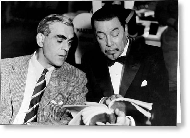 Musical Film Greeting Cards - Boris Karloff in Charlie Chan at the Opera  Greeting Card by Silver Screen