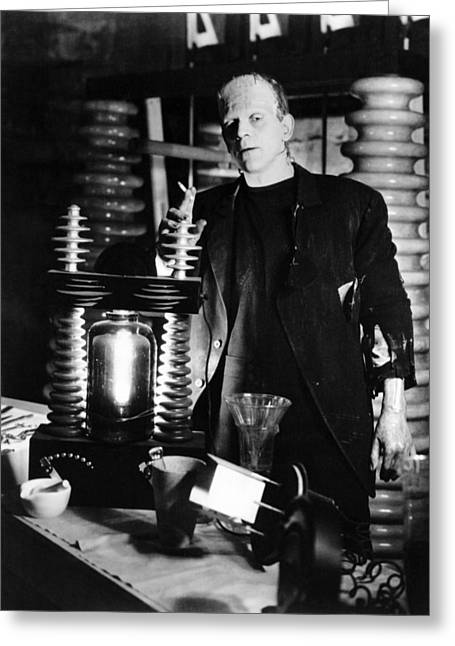 1930Õs Greeting Cards - Boris Karloff in Frankenstein  Greeting Card by Silver Screen