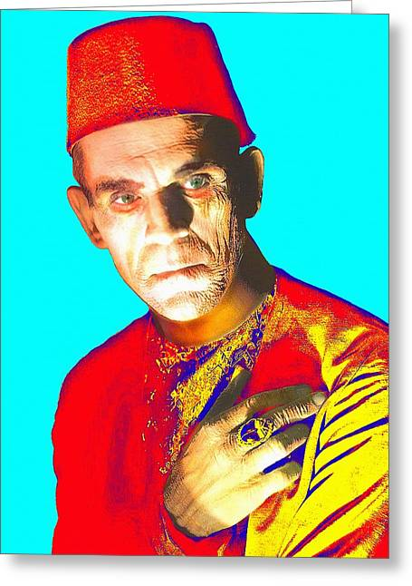 The Mummy Greeting Cards - Boris Karloff in The Mummy Greeting Card by Art Cinema Gallery