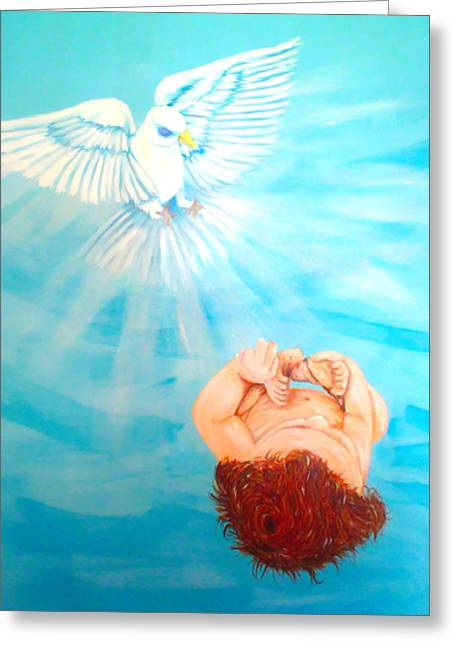 Born Again Greeting Cards - Born Again Greeting Card by Denise Warsalla