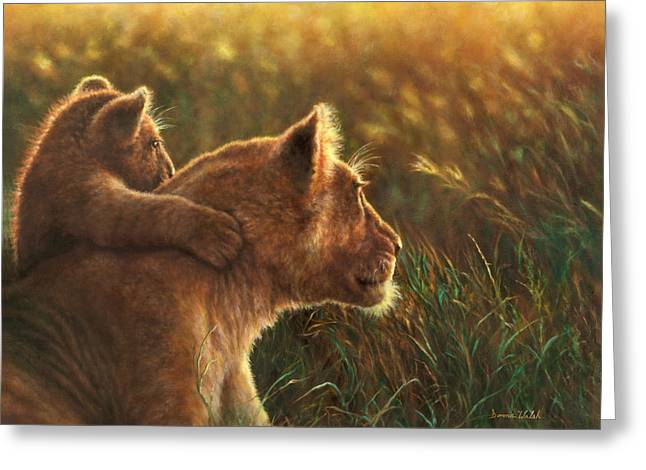 Lioness Greeting Cards - Born Free Greeting Card by Donna  Hillman Walsh