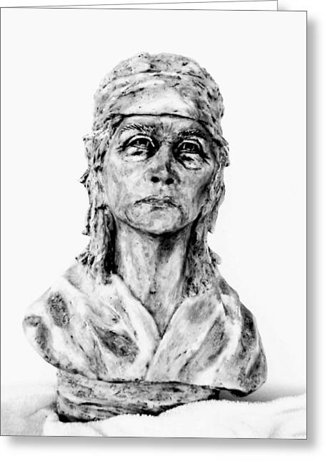 Figurative Sculpture Sculptures Greeting Cards - Born Free Greeting Card by Wayne Niemi