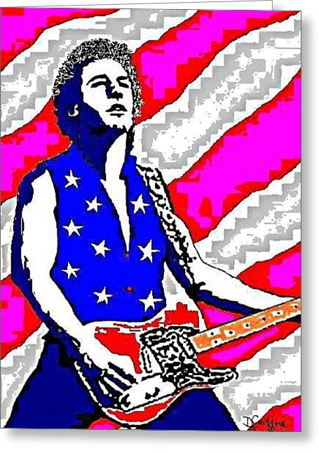 Bruce Springsteen Paintings Greeting Cards - Born in the USA Greeting Card by Dave Gafford