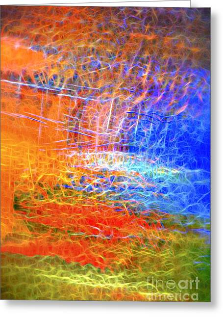 Recently Sold -  - Abstract Digital Greeting Cards - Celebration of Fire Greeting Card by Norman Gabitzsch